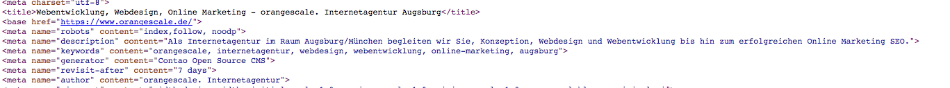 Meta Description im HTML-Code